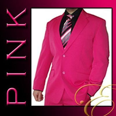 NEW PINK FUCSIA MENS SUIT MICROFIBRE WEDDING SCHOOL FORMAL MENSWEAR- Aus Seller-