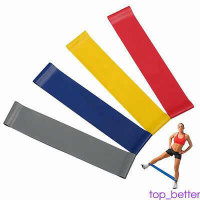 Resistant Loop Exercise Bands Workout Fitness Yoga Crossfit Strength Practical