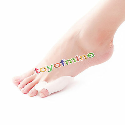 2 x Silicone Gel Little Toe Separator Straighteners Alignment Bunion Pain Relief
