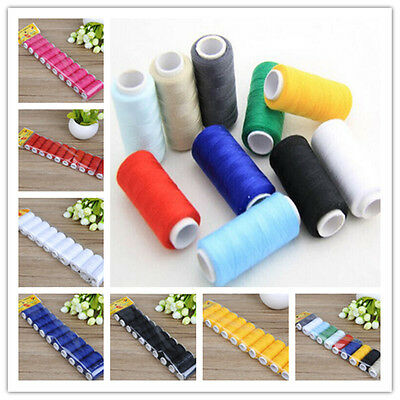 2pcs/10pcs 100% polyester thread 200yd each Spool Household sewing kit