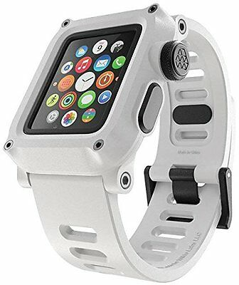 Apple Watch Waterproof Case 42mm Series 1 LUNATIK EPIK H20 +Silicone Strap White