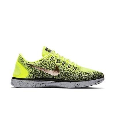Mens NIKE FREE RN DISTANCE SHIELD Volt Running Trainers 849660 700