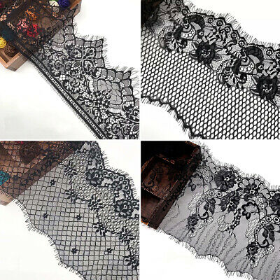 9 DESIGNS! 1M FLORAL LACE TRIM Exquisite Quality Eyelash Mesh Trimming Craft
