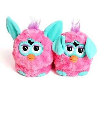Stompeez Pink Furby Slippers Size S 10-12 . New