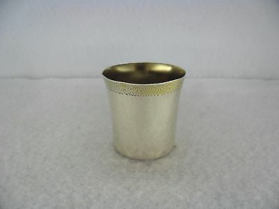 A Very Pretty Swedish Solid Silver Gilt Rim Shot Cup