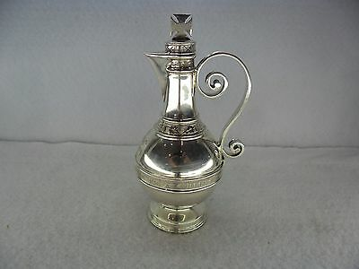 Walker & Hall Solid Silver Communion Wine Ewer Jug, Sheffield 1908
