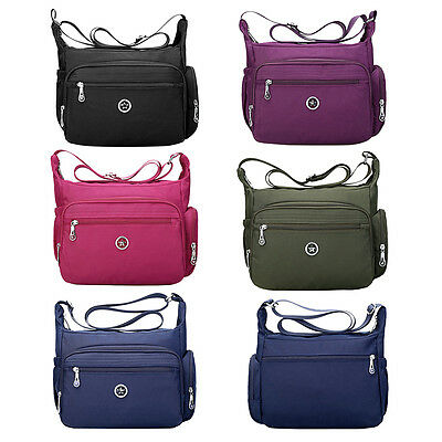 Casual Cross Body Handbag for Women Nylon Shoulder Bag Messenger Zipper Purses