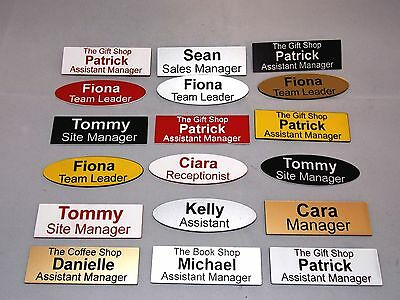 High Quality Engraved Name Badges - shops clubs pub schools offices medical etc.
