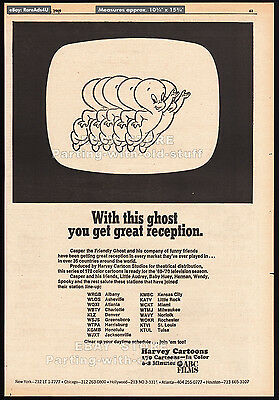 CASPER THE FRIENDLY GHOST__Original 1969 Print AD / TV promo__HARVEY CARTOONS