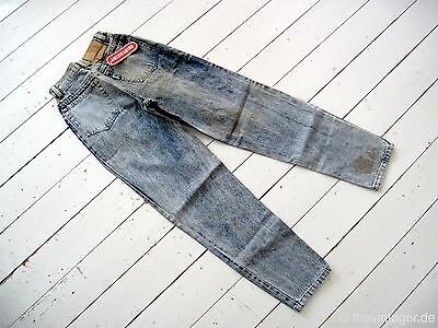 90s AMERICANINO High Waist Marmor Washed Jeans Kiesza Blogger Tapered Leg Monki