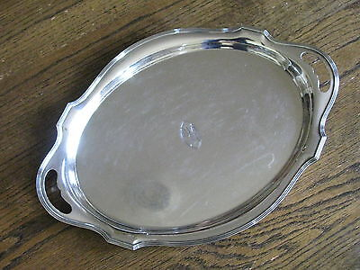 """20"""" Gorham """"Plymouth"""" Sterling Waiters Tray A5480 with Gorham's 1930 Date Mark"""