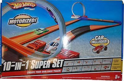 USED Hot Wheels Beat That Motorized 10-IN-1 Super Set (M.H)