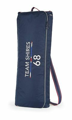 NEW Shires Team Navy Padded Double Bridle Bag - Holds 2 Bridles - Tack Protect