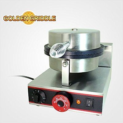 Commercial Waffle Cone Maker Iron Golden Griddle Refurbished