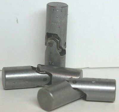 "3 Unused Alves #S625 Universal Joints 5/8"" x 5/8"" x 2-1/4"", with solid ends"