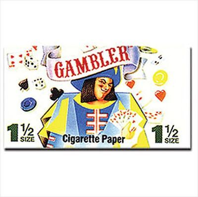 Full Box 24x Packs ( Gambler 1 1/2 1.5 ) Premium Rolling Papers Paper Deal