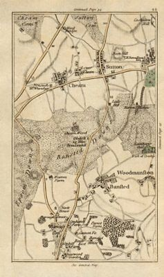 SUTTON Carshalton Cheam Woodmansterne Banstead Chipstead Ewell CARY 1786 map