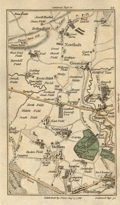 GREENFORD Hounslow Northolt Hanwell Southall Heston Osterley CARY 1786 old map