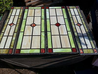 Lead Glass Windows. set of Four collect from Southampton.