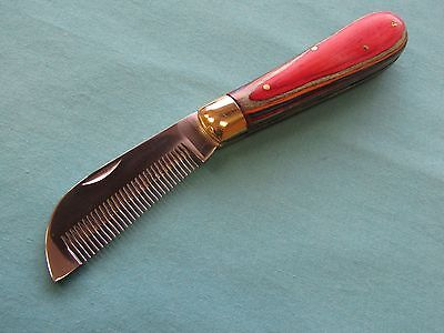 Mane-Thinning-Knife-S.S-Multi-color-wood-handle