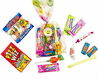 10 x  Pre filled Kids Children's  Sweet  party Bags Emoji Free postage