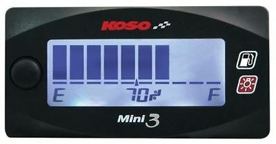 Koso mini 3 fuel gauge multiple sender range compact design pls read listing