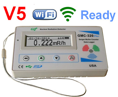GMC-320 Plus V5 WiFi Digital Geiger Counter Radiation Detector Gamma Beta X-ray