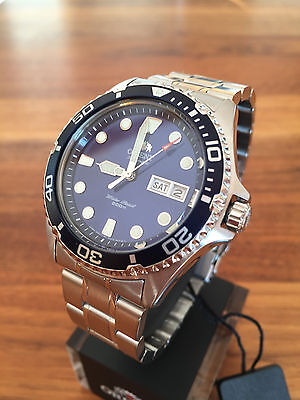 SPECIAL OFFERS!!! NEW Orient Ray II 2 blue Automatic Watch Automatik Taucher Uhr
