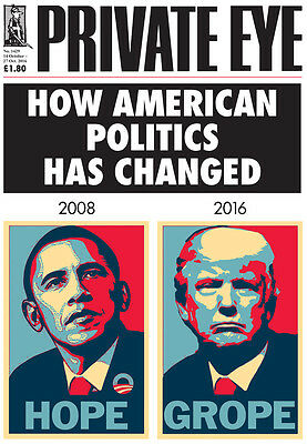 """Private Eye (No. 1429, 14-27 Oct 2016) - """"How American Politics Has Changed"""""""
