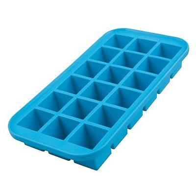 New Appetito Silicone 18 Cube Ice Tray Blue