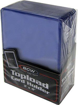 """Case 1000 3"""" x 4"""" BCW Card Topload Holders Sport/Trading/Gaming Cards Toploaders"""