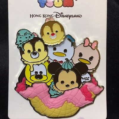 Hkdl Hong Kong Disney Ice Cream Tsum Tsum Chip Dale Donald Pluto Pin 116307