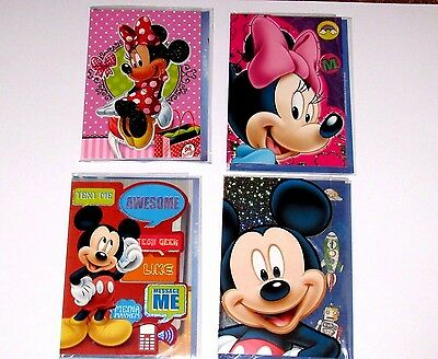 Disney Micky or Minnie Mouse Blank Greeting Card All Occasion Boy Girl Birthday