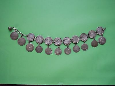 Love Token Bracelet W/ 20 Engraved Coins 17 Of Which Are Popular Names Look!