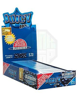 1x Pack ( Juicy Jay Jay's BlueBerry 1.25 1 1/4 ) Flavor Rolling Paper Papers