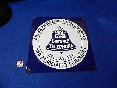 Vintage Porcelain Sign, American Telephone & Telegraph, Bell Systems, AT&T
