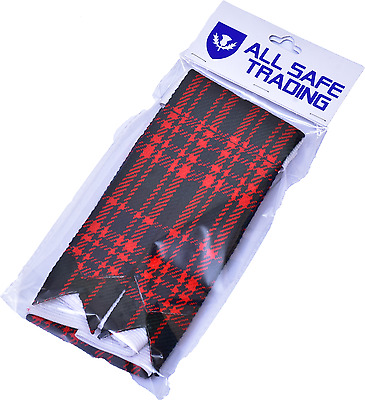 New Scottish Macdonald Tartan Kilt Flashes/Highland Kilt Hose Flashes (Pair)