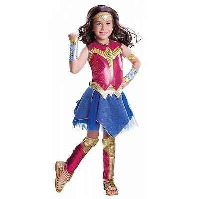 Wonder Woman Costume Kids Halloween Fancy Dress