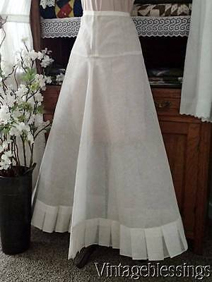 Vintage Long Full Very Stiff Slip Skirt with kick pleats 1920-40s
