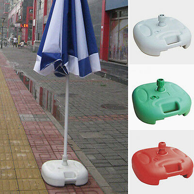 New Parasol Base Patio Sunshade Holder Beach Umbrella Stand Fill With Water/Sand