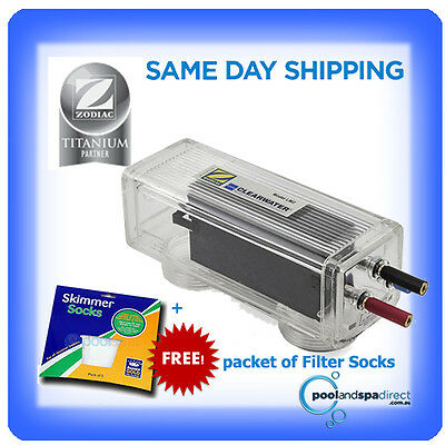 Genuine Zodiac Clearwater LM2-24 Chlorinator Replacement Cell +Free Filter Socks