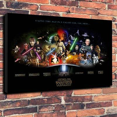 "Star Wars Ultimate Canvas Print A1.30""x20""~Deep 30mm Frame Science Fiction V2"