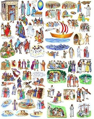 13 Stories of Jesus Bible Felt Figures PRECUT Flannel Board parables miracles T