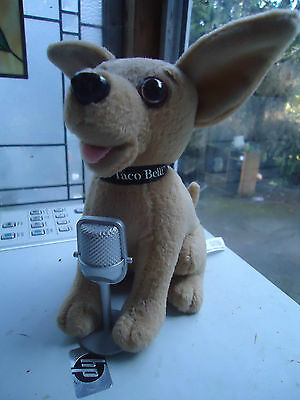 "Taco Bell Chihuahua Plush 6"" Singing Dog with Microphone ""Chances Are"" Song"