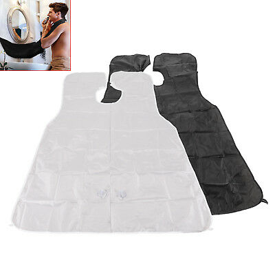 NEW Shaving Trimming Apron Bib Hair Beard Moustache Whiskers Catcher Cape Cloth