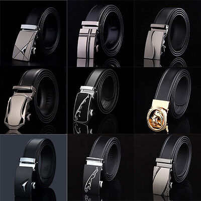 Men's High-end Genuine Leather Casual Designs Automatic Buckle Belts Waistband