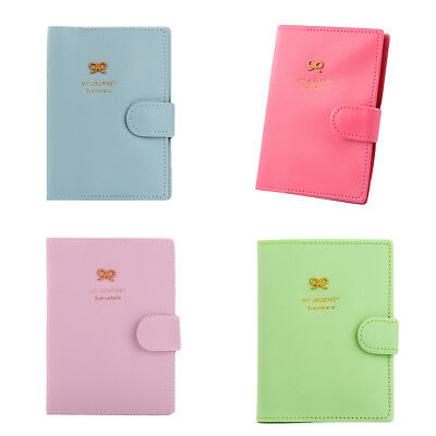 Passport Holder Cover Ticket Card Case Sweet Pu Leather Travel Wallet Affordable