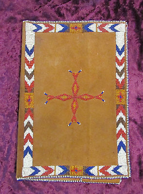 Antique Native American Beaded Book Cover ( journal ,diary sketching) Very Rare