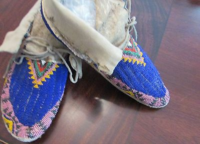 Antique/Old Plains Fully Beaded Moccasins