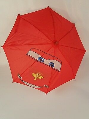 Disney Pixar CARS ~LIGHTNING McQUEEN Kids Red UMBRELLA .